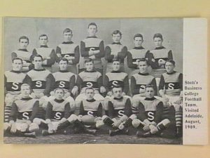 Stott's Business College Football Team visits Adelaide in 1909.