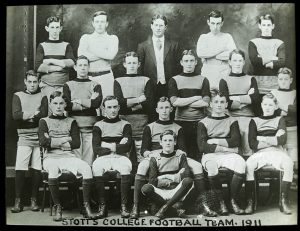 Stott's College Football team photo in 1911.