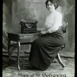 Miss J.M. Donovan, runner up typist.