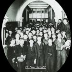 Students of the 1st Floor Corridor in 1910.