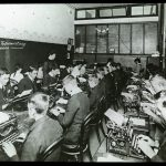Students in the Intermediate Typing Class in 1910.