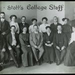 Stott's College staff photo in 1910.